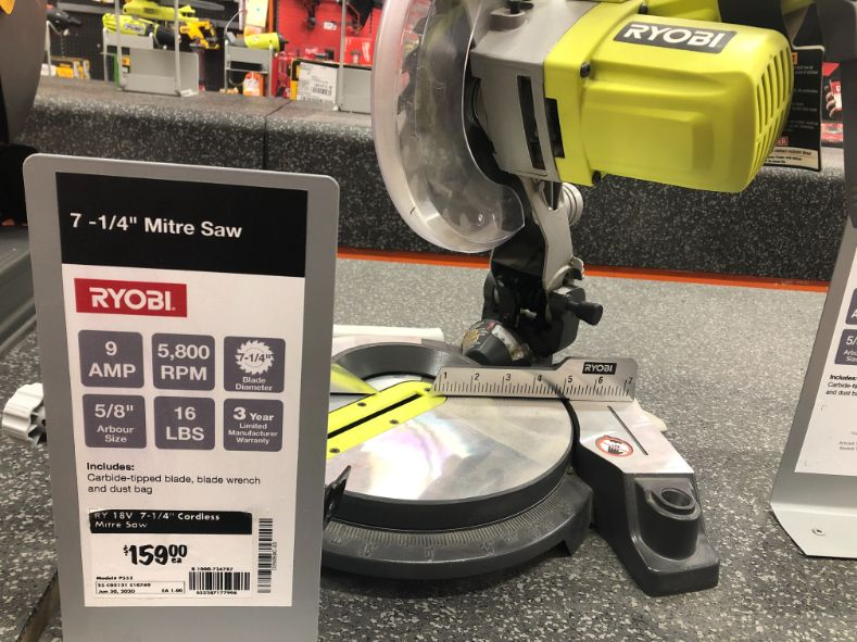 Entry level miter saw