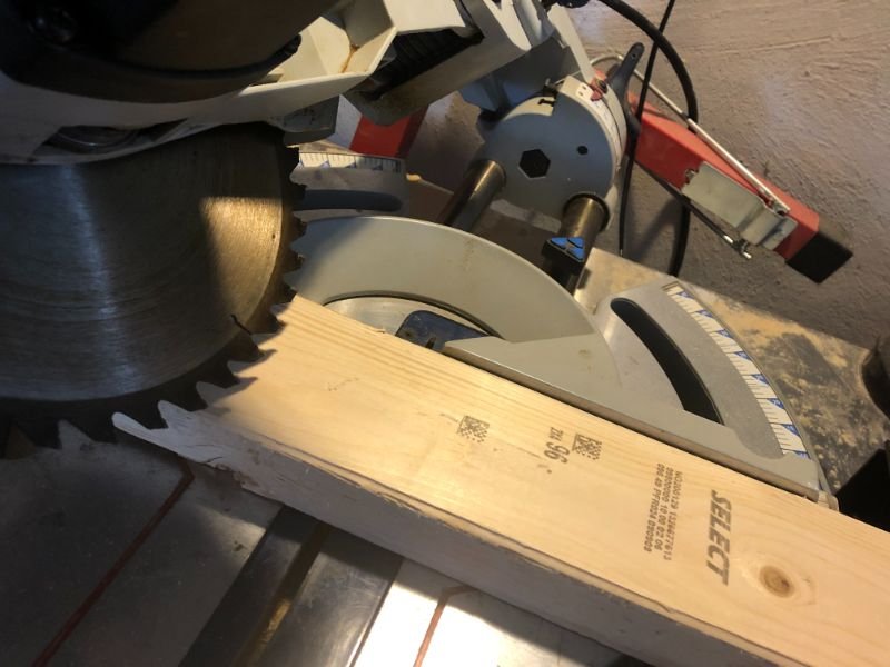 miter saw bevel cut not straight