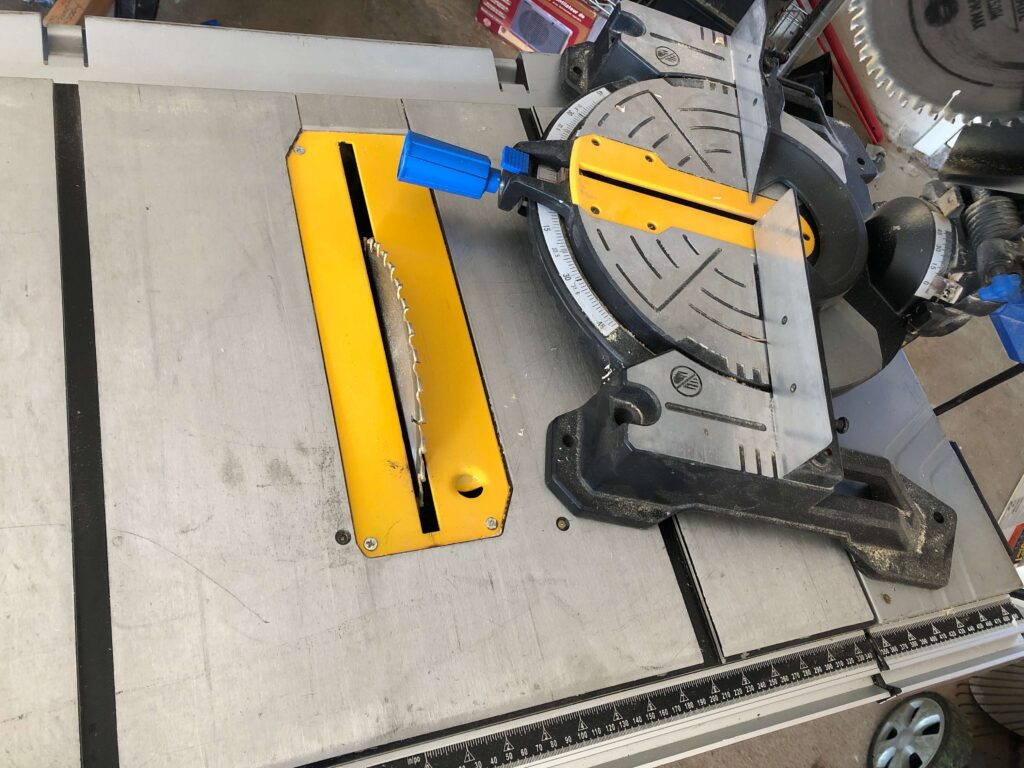 mount table saw to miter saw stand