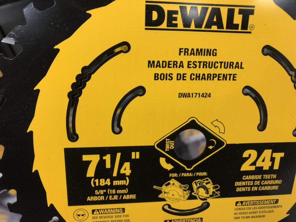 New miter saw blade burning wood