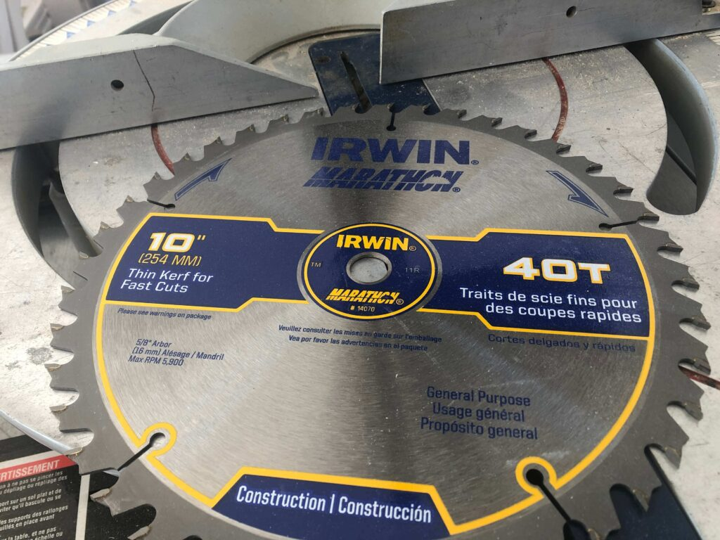 40 tooth miter saw blade