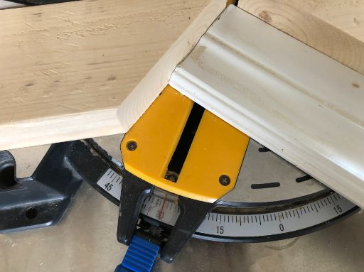 75 degree cut with a miter saw