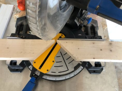 jig for cutting more than 45 degree on a miter saw