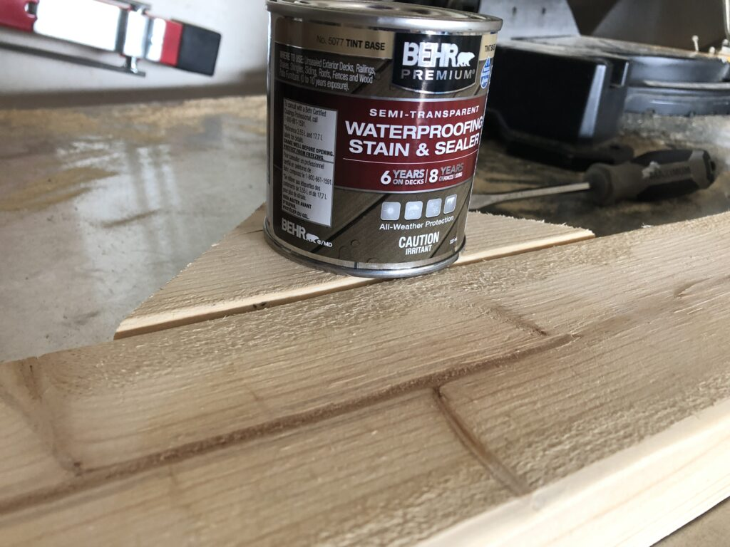 wipe off excess wood stain